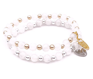 MoonStone Bracelet with Gold/Silver filled Beads