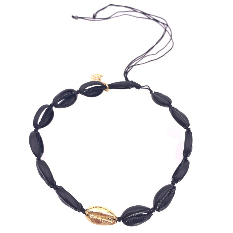 Black and Gold Puka Choker