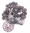 Labradorite Necklace with Lotus Flower Pendant