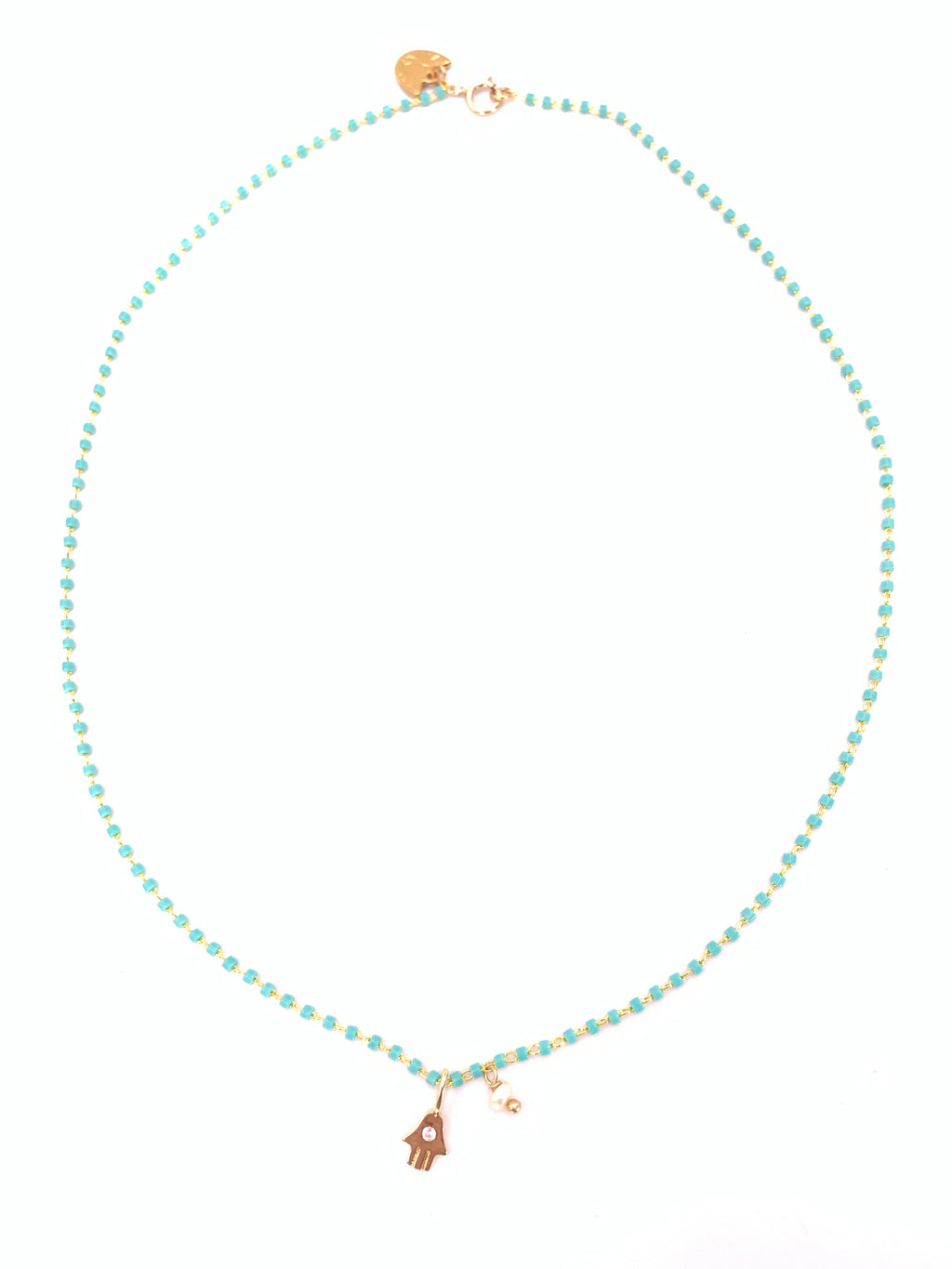 Hansa Pearl Turquoise Necklace