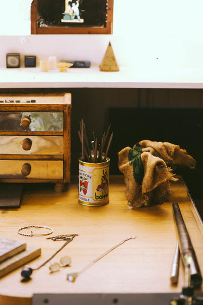Susan Ewington Jewellery - work bench