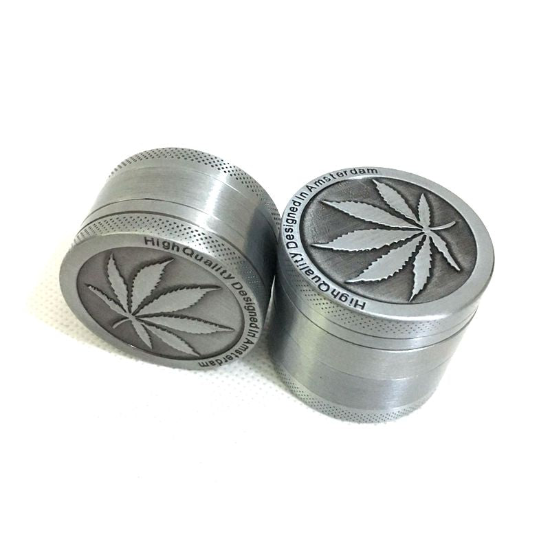 3 Parts Mini Herb Grinder Weed Smoke Tobacco Hand Muller for Hookah Shisha Water Pipe Diameter 40mm