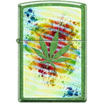 Zippo Zippo Lighter - Pot Leaf Meadow Finish