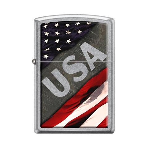 Zippo Lighter - USA Street Chrome