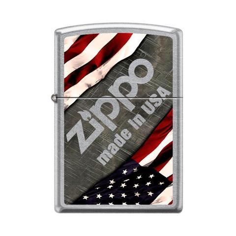 Zippo Zippo Lighter - Made In USA Logo Street Chrome