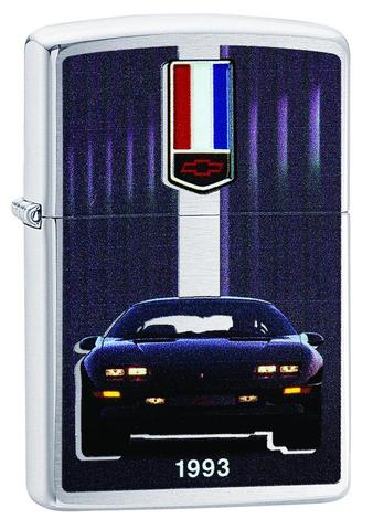 Zippo Lighter - Chevy Camaro Z28 1993 Brushed Chrome