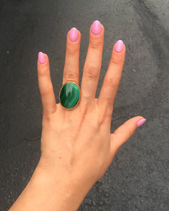 Vermeil Malachite Ring