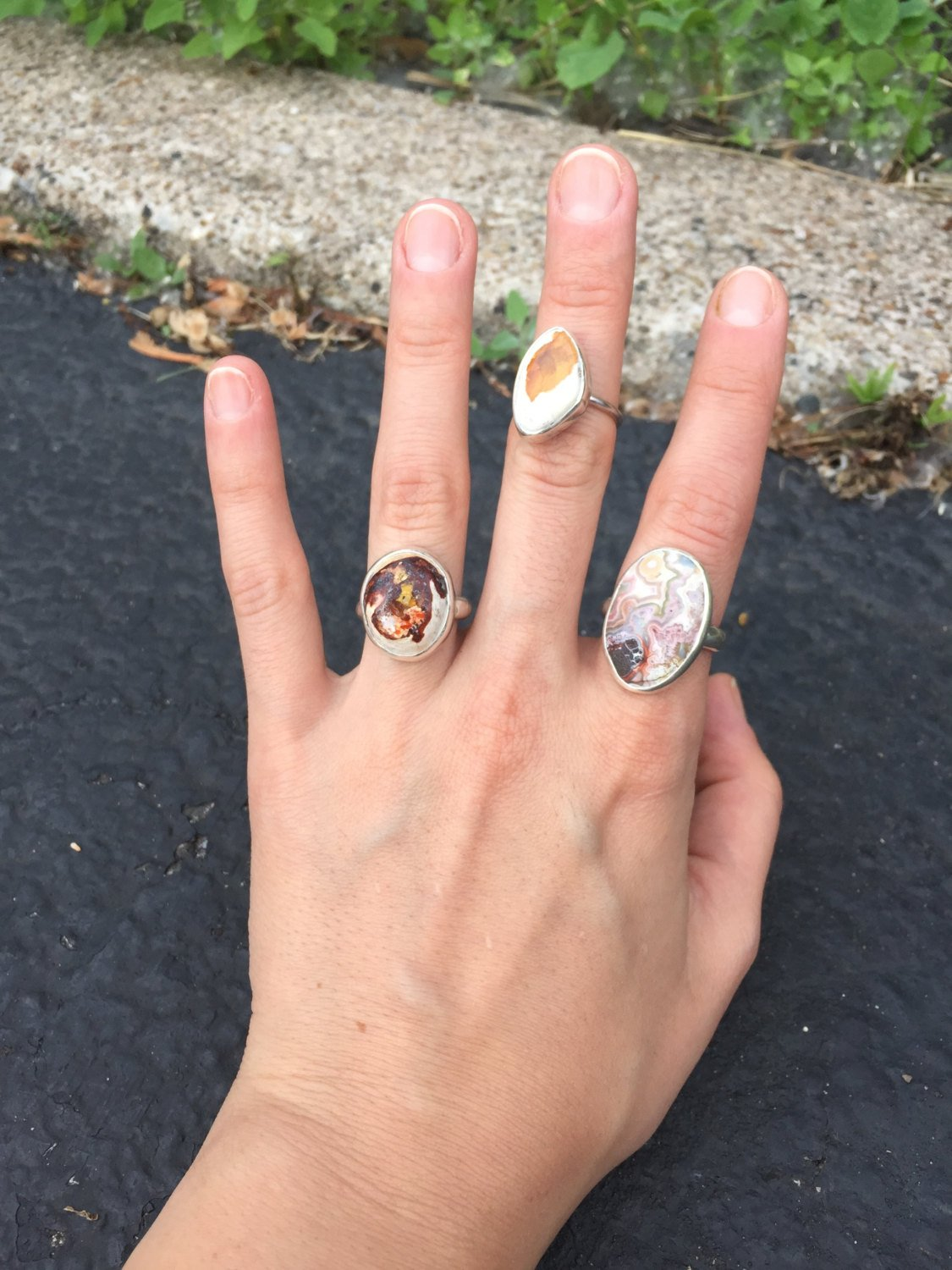 Laugher {ONEOFAKIND} Crazy Lace Agate Ring