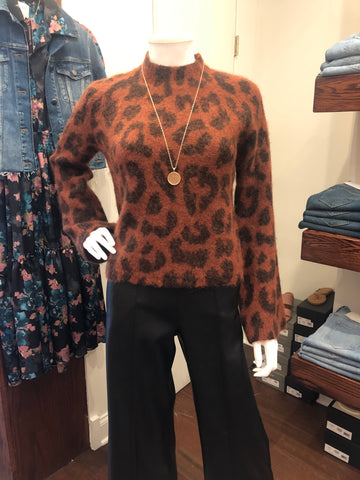 Line Animal Print Sweater