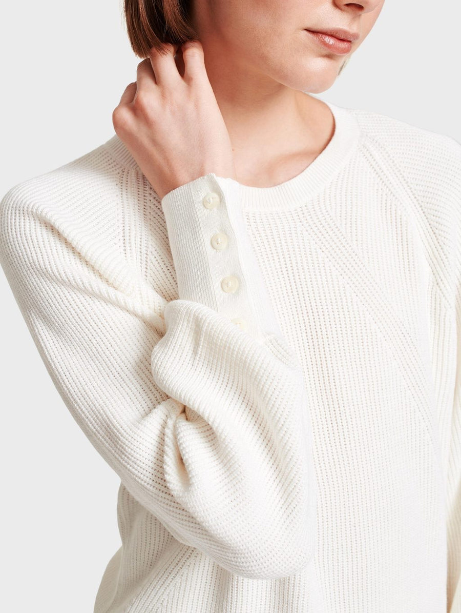 White & Warren Ribbed Sweater