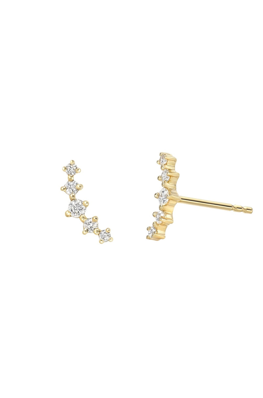 Zoe Lev Diamond Cluster Earring