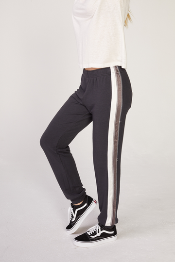 Monrow Satin Stripe Sweatpants