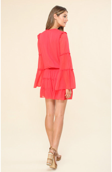 Hale Bob Clara Ruffle Dress