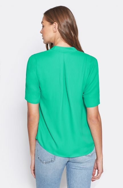 Joie short sleeve pleated blouse