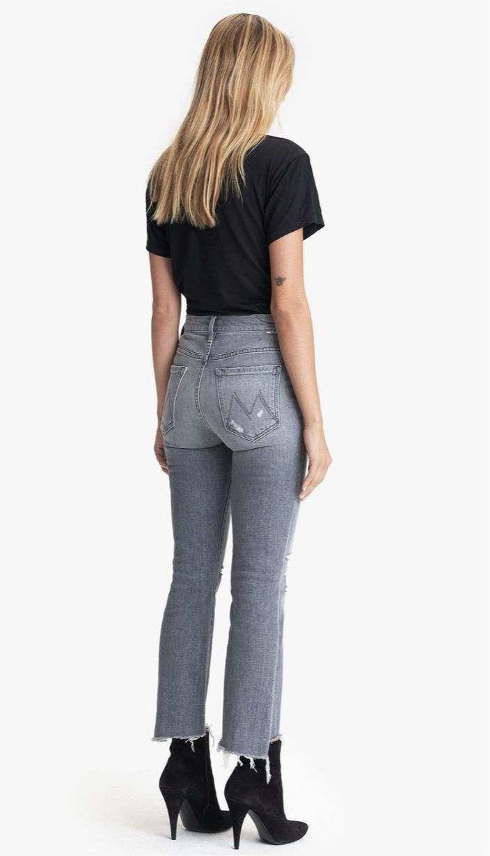 Mother Crop Step Fray Jeans
