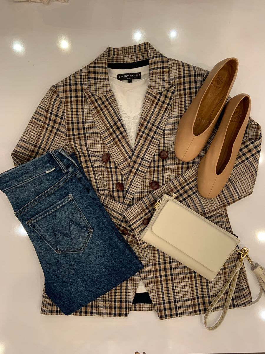 Drew Ruth Plaid Blazer