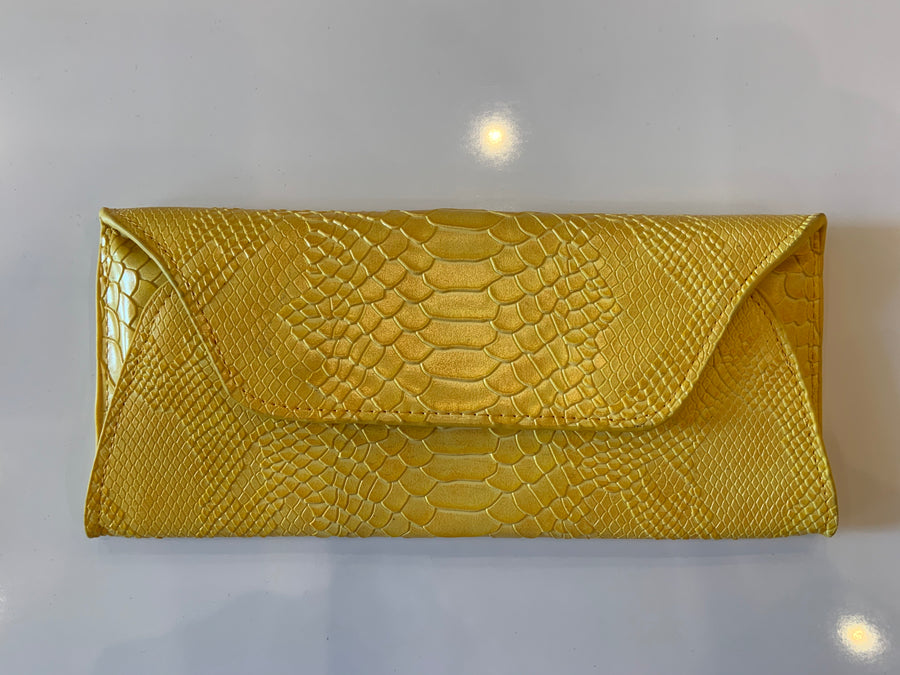 Annie Diamantidis Leather Clutch
