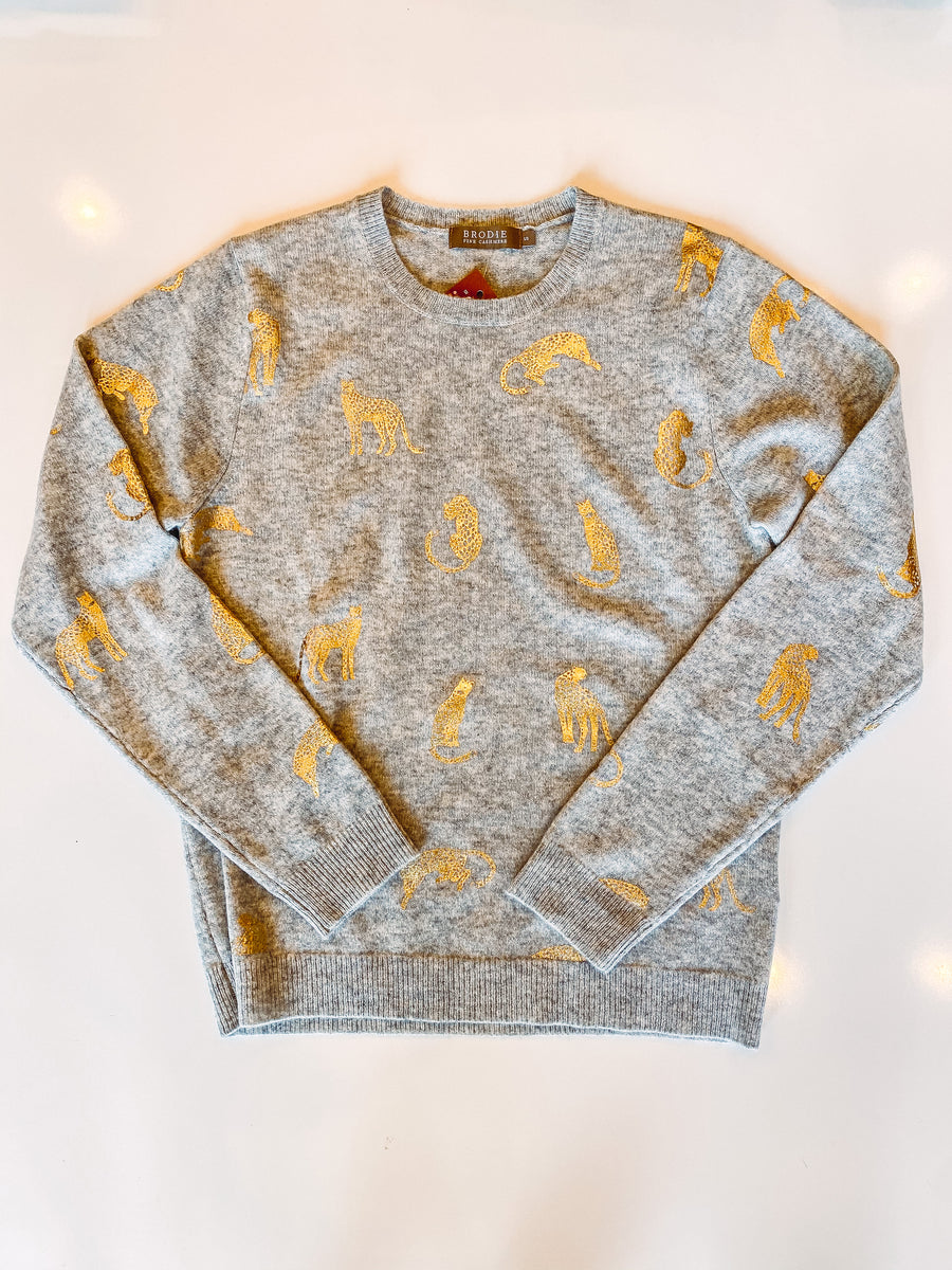 Brodie Gold Cheetah Sweater