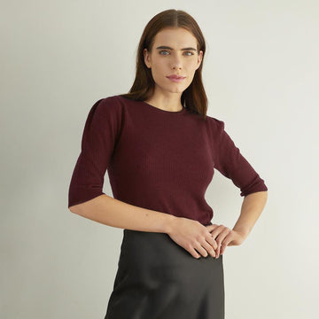 *Autumn Cashmere Elbow Puff Sleeve