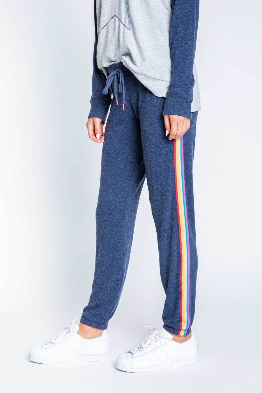 PJ Salvage Rainbow Stripe Sweatpants
