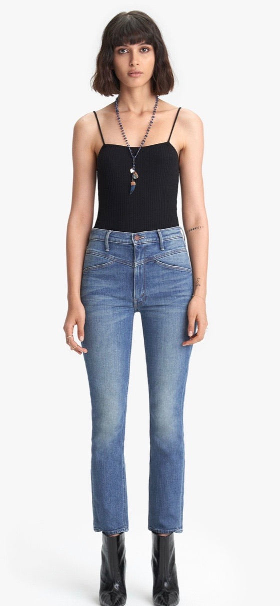 Mother Yoke Front Jean