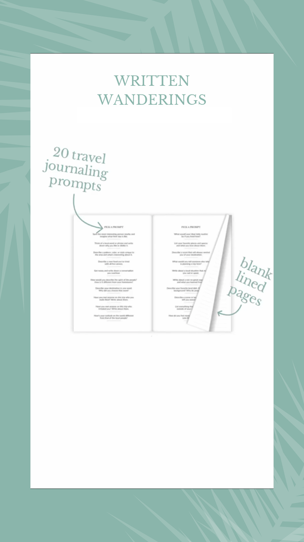 Discover travel journal pages, travel journal writing prompts