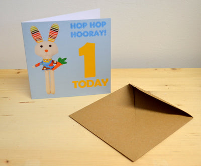 Birthday Card '1 Today Hooray'