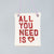 'All you need is Love' hanging ceramic