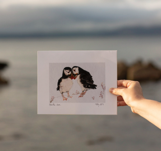 Wild Atlantic Love Puffin Print