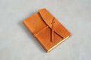 Leather hand bound notebook - Tan