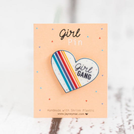 Girl gang pin
