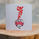 Wedding car Card
