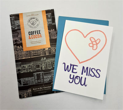 Sending Love & Chocolate - Personalised 'We Miss You' care package