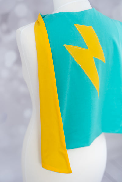 Cool Green Superhero Cape - MADE TO ORDER