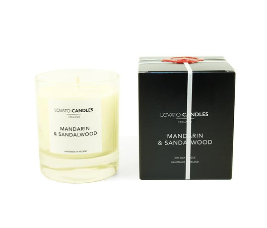 Clear Candle with Luxury Black Box