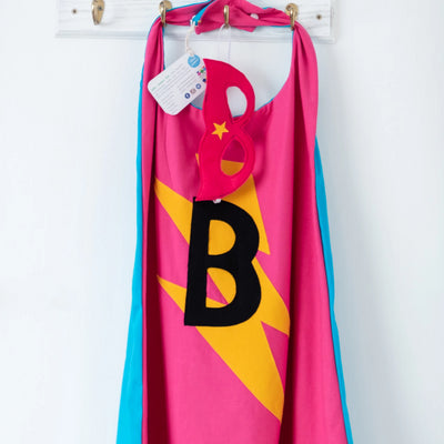 Frozen blue & pink Superhero Cape - MADE TO ORDER