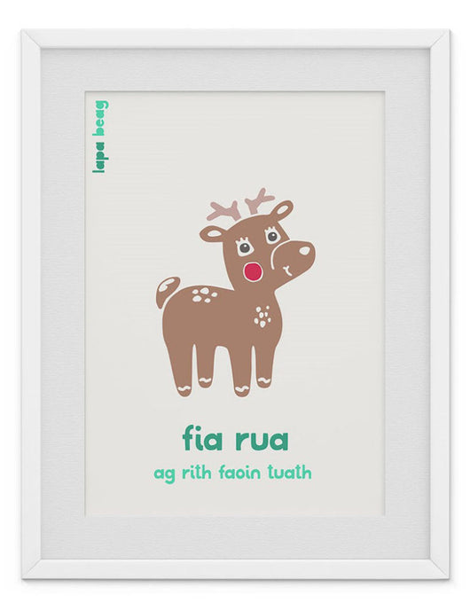 Fia rua (red deer) print by Lapa Beag