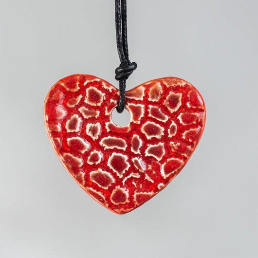 Red hanging ceramic heart