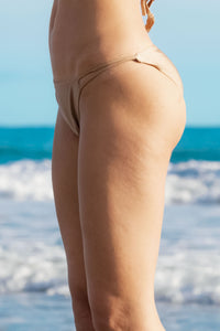 Ladyship The Alicia Classic triangle swimsuit bottom with double criss-cross straps in Gold.