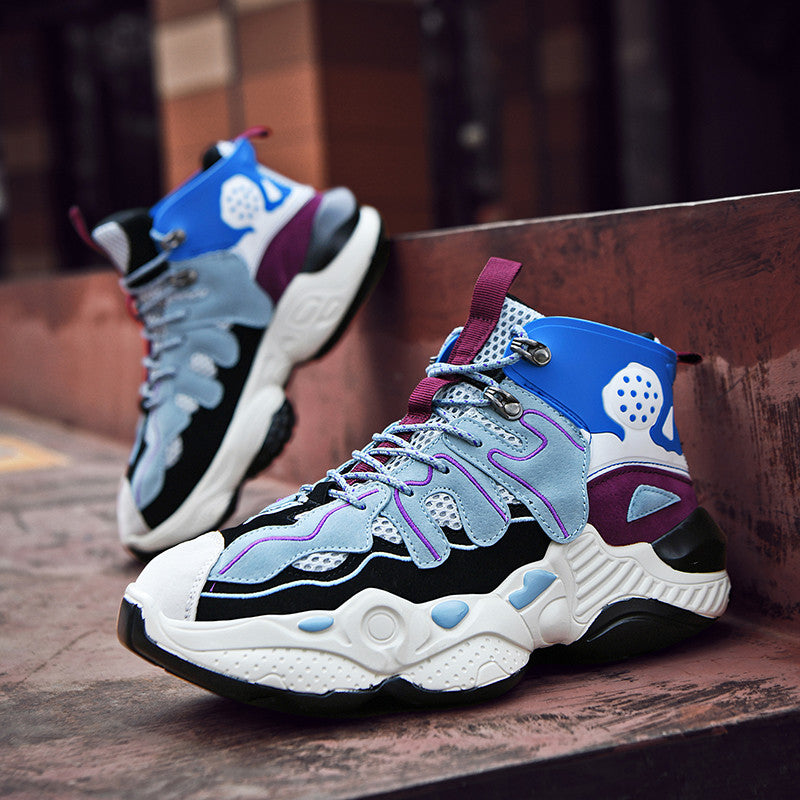 RENEGADE 'War Zone' X9X Sneakers - Off-White/Blue/Grape