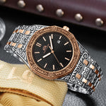 MLB 'Warren' Luxury Engraved Vintage Watch