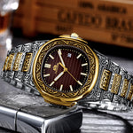 MLB 'Henry' Luxury Engraved Vintage Watch