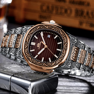 MLB 'Norman' Luxury Engraved Vintage Watch