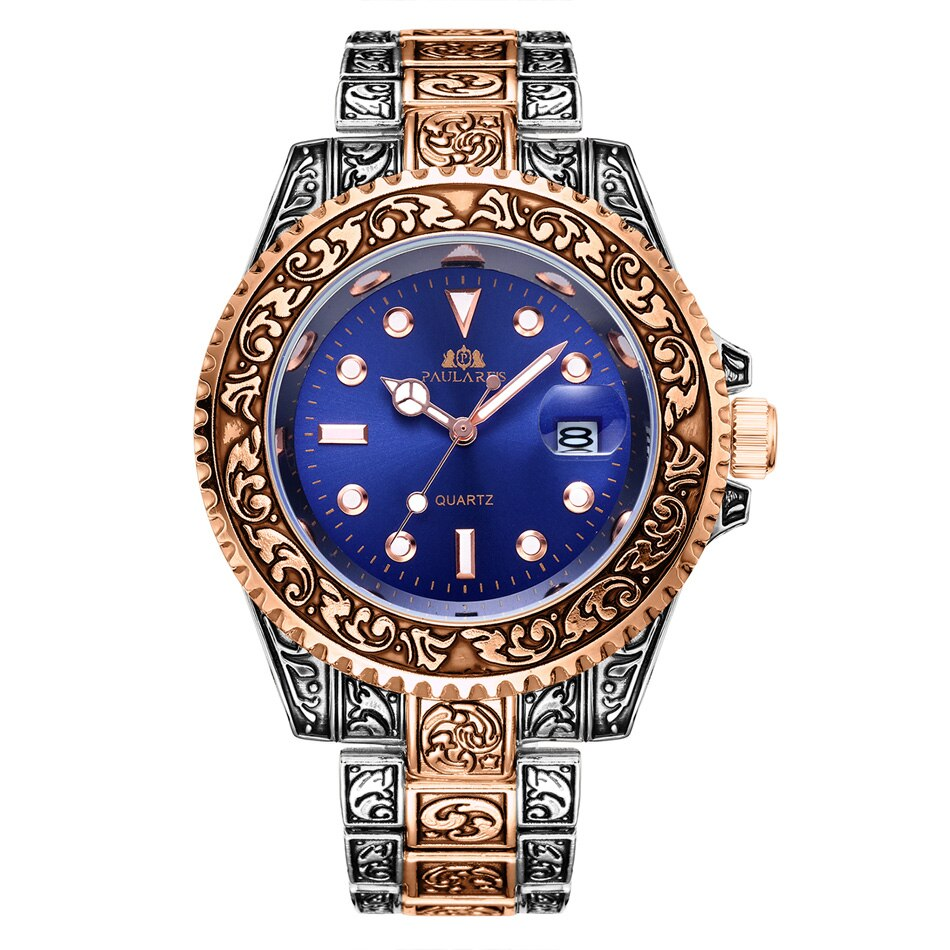 MLB 'Oscar' Luxury Engraved Vintage Watch