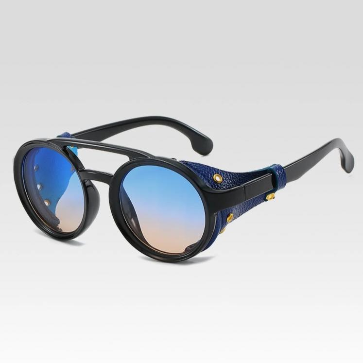 1915 Retro Sunglasses w/ Leather Side Shields