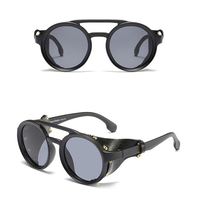 1916 Retro Sunglasses w/ Leather Side Shields