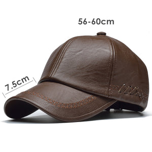 1782 Leather Baseball Cap
