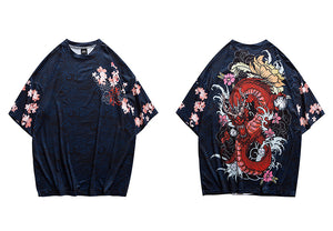 Fire Dragon Harajuku T-Shirt
