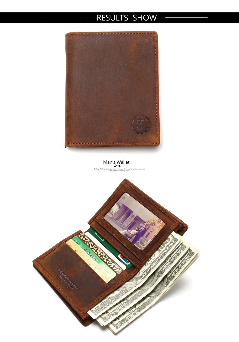 Vintage Crazy Horse Handmade Leather Wallet