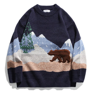 Mountain Bear Oversized Sweater